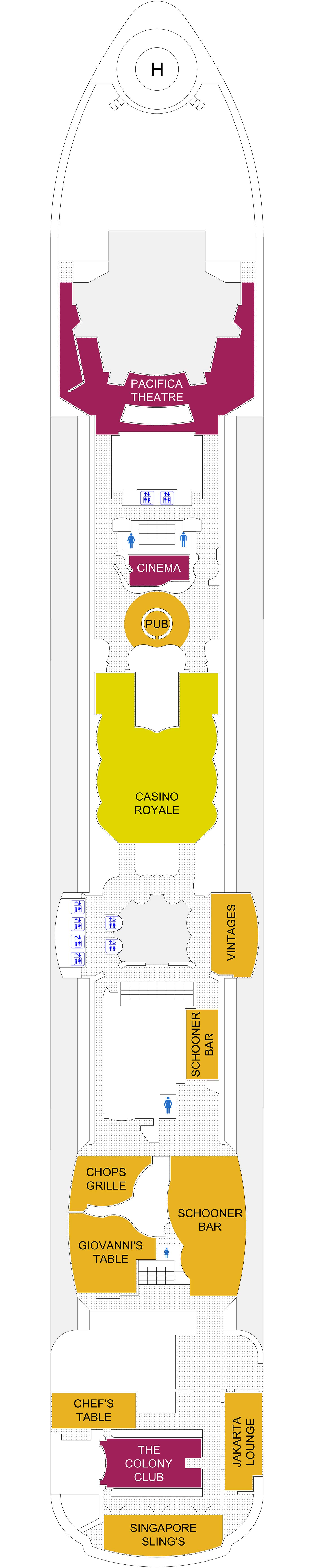 Brilliance of the Seas deck plan 6