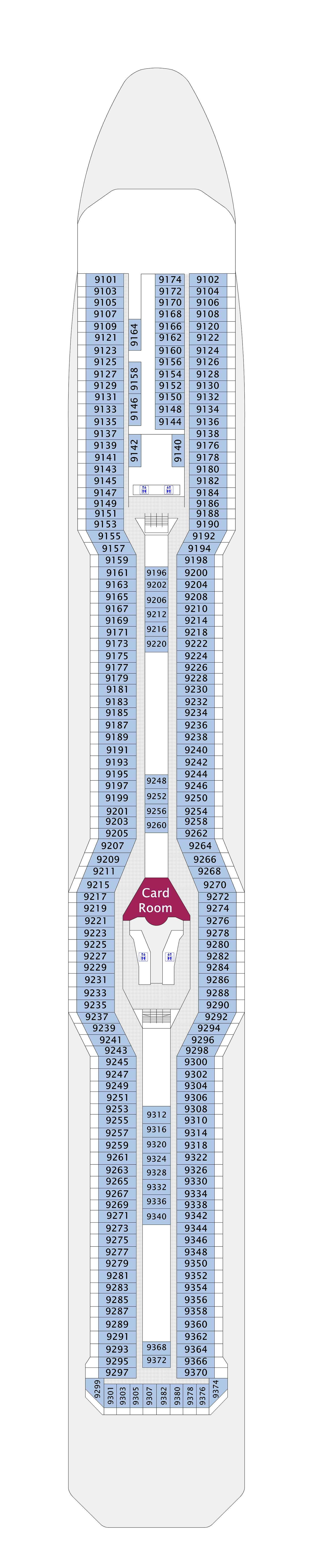 Celebrity Eclipse deck plan 9