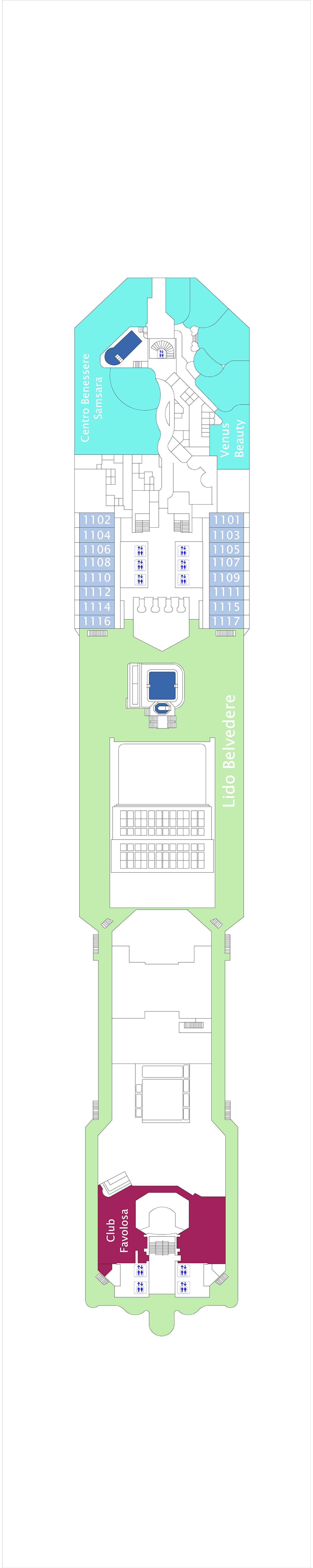 Costa Favolosa deck plan 11