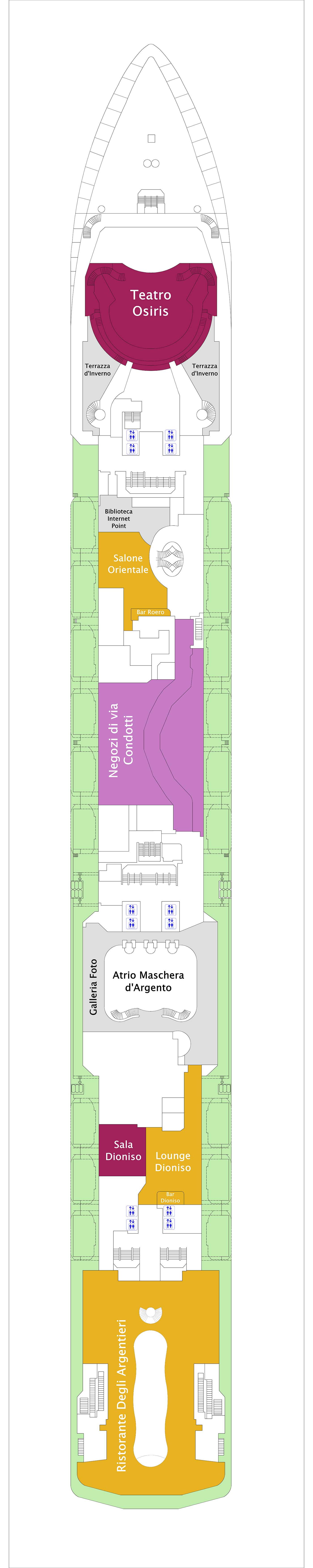 Costa Mediterranea deck plan 3