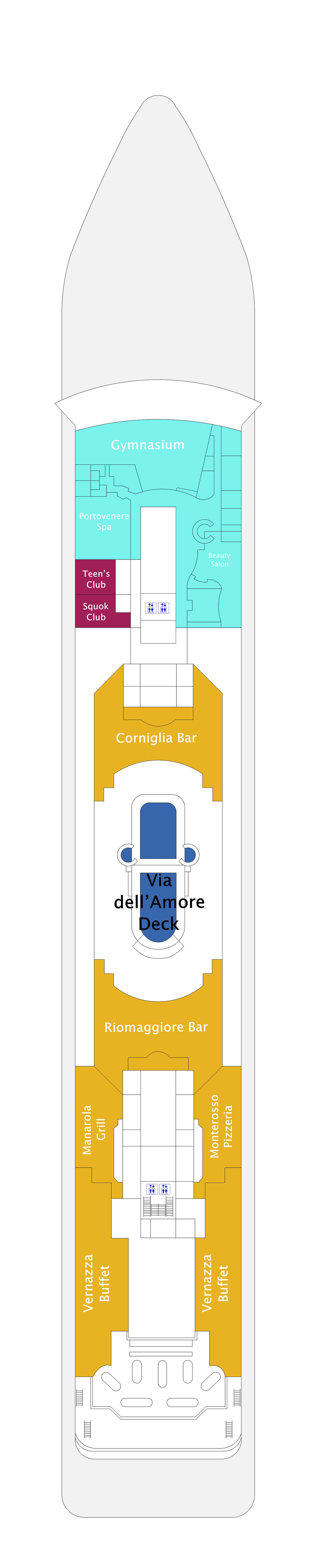 Costa neoRiviera deck plan 11