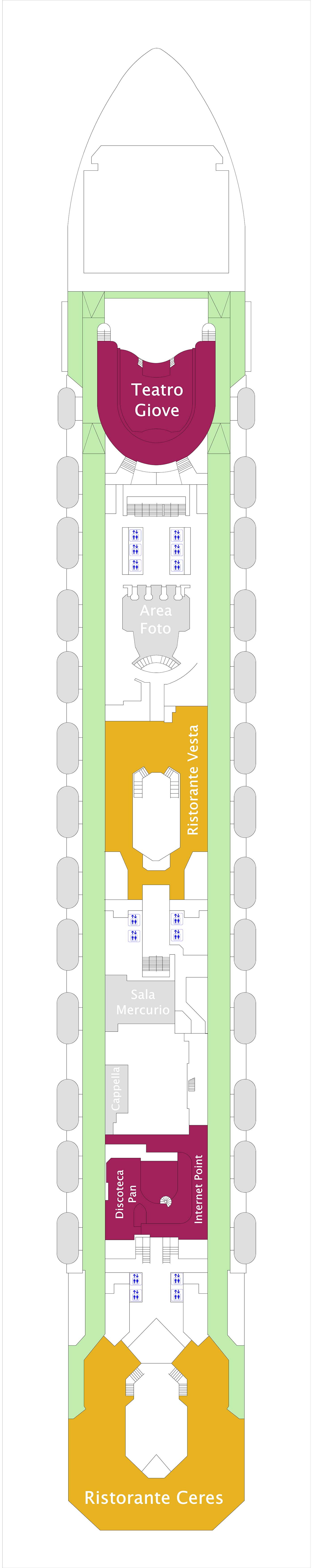 Costa Serena deck plan 4