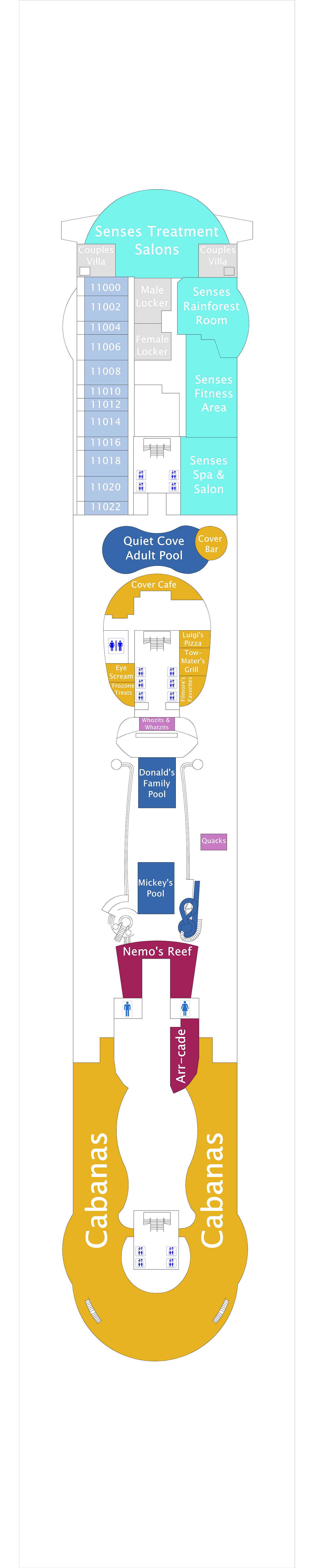 Disney Dream deck plan 11