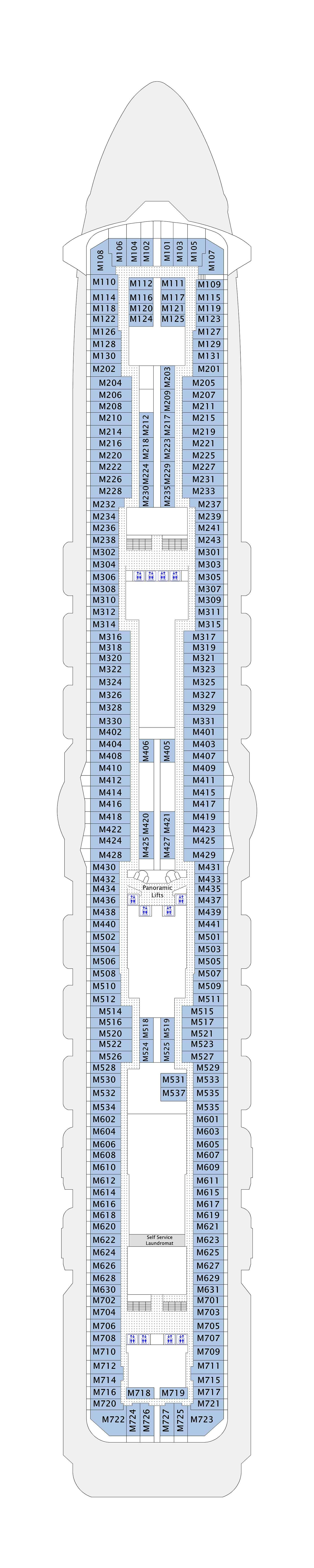 Majestic Princess deck plan 15