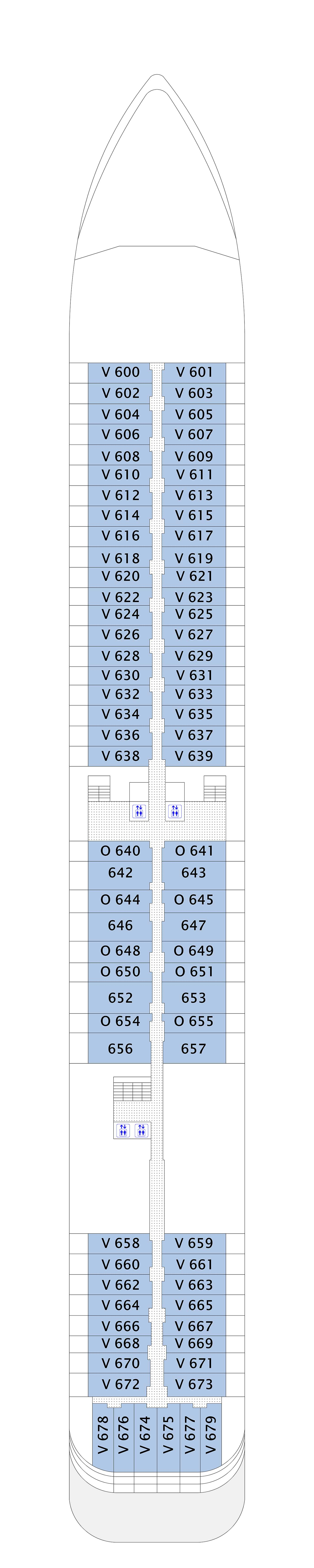 MS Europa 2 deck plan 6
