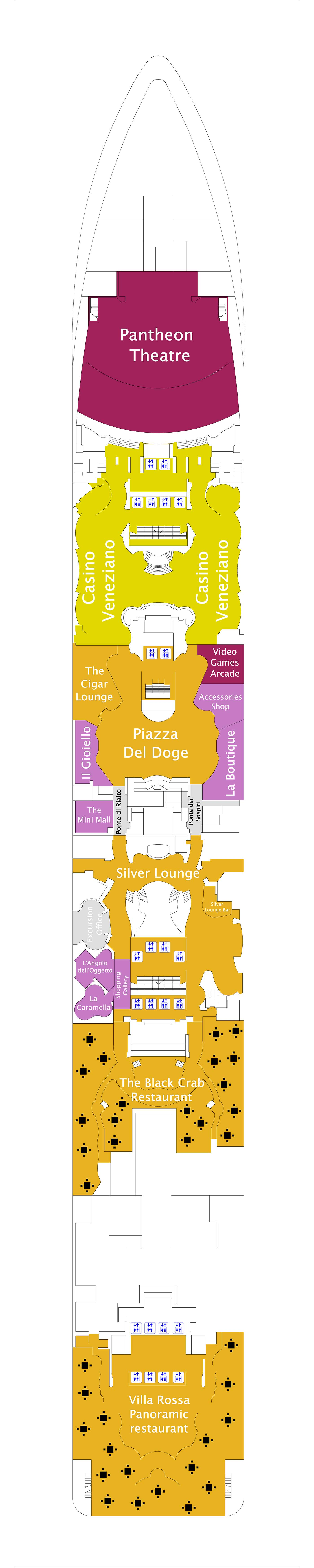 MSC Divina deck plan 6