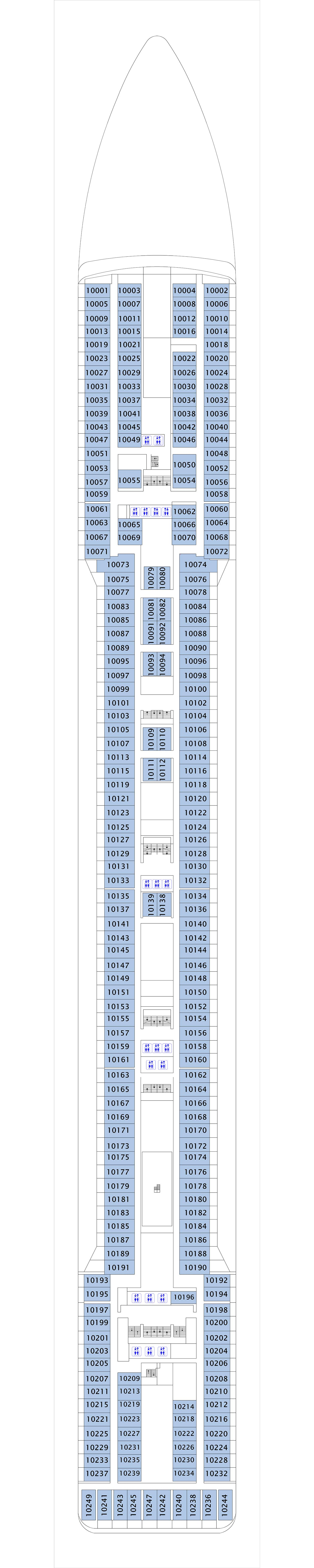 MSC Magnifica deck plan 10