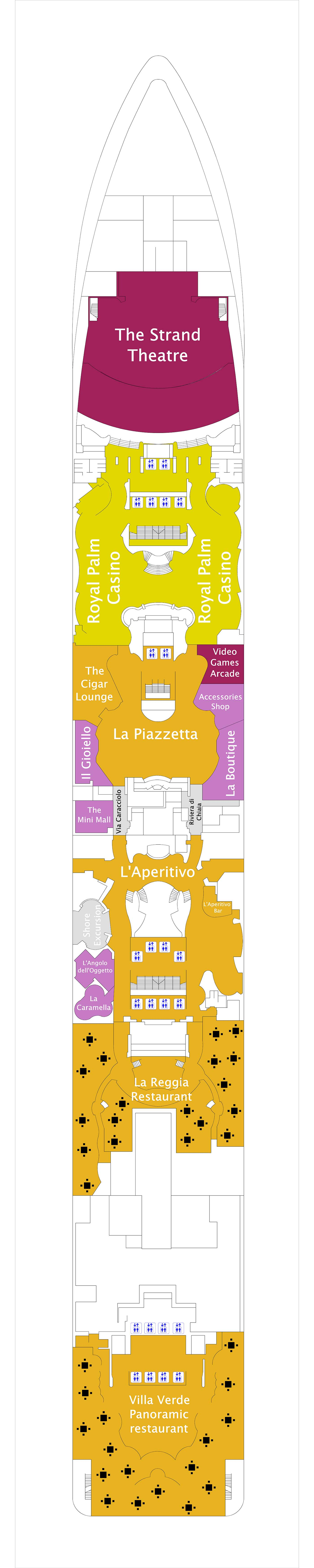 MSC Splendida deck plan 6