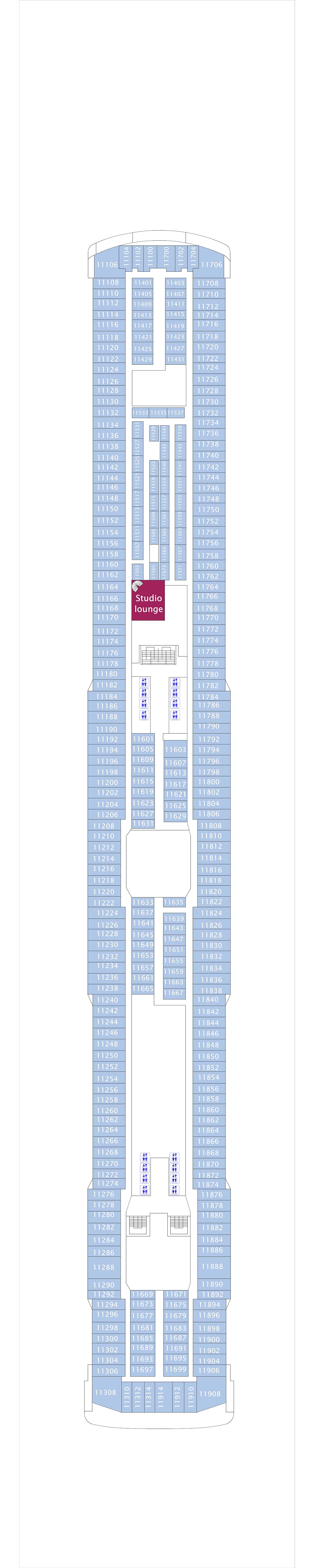 Norwegian Breakaway deck plan 11
