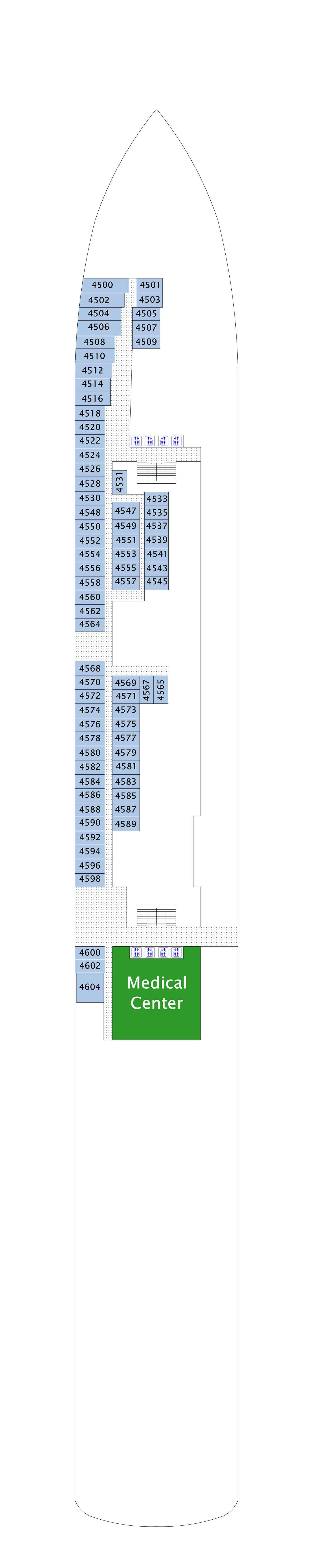 Norwegian Gem deck plan 4