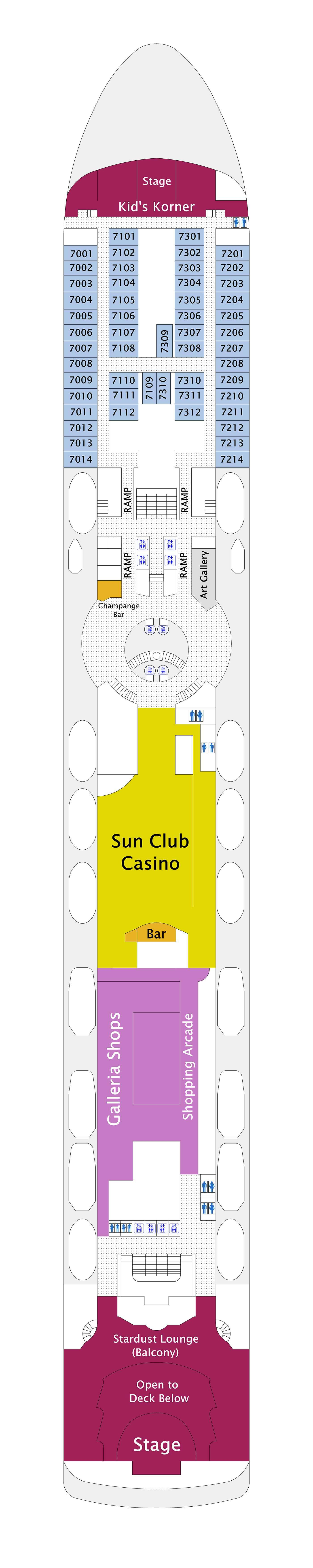 Norwegian Sun deck plan 7
