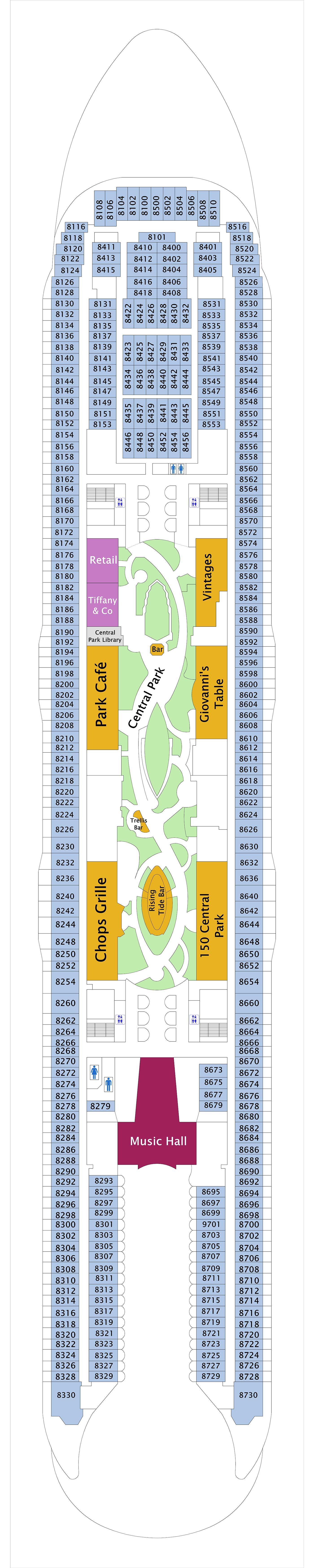 Oasis of the Seas deck plan 8
