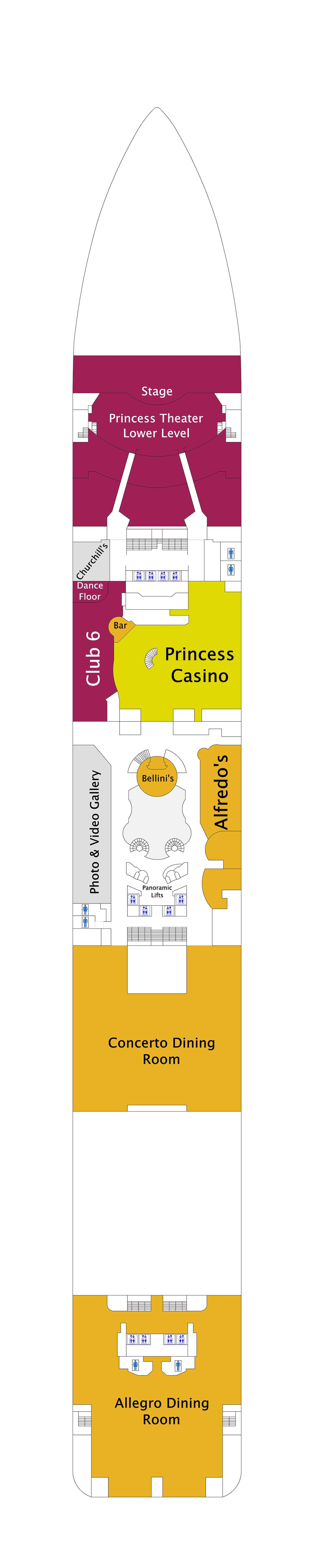 Royal Princess deck plan 6