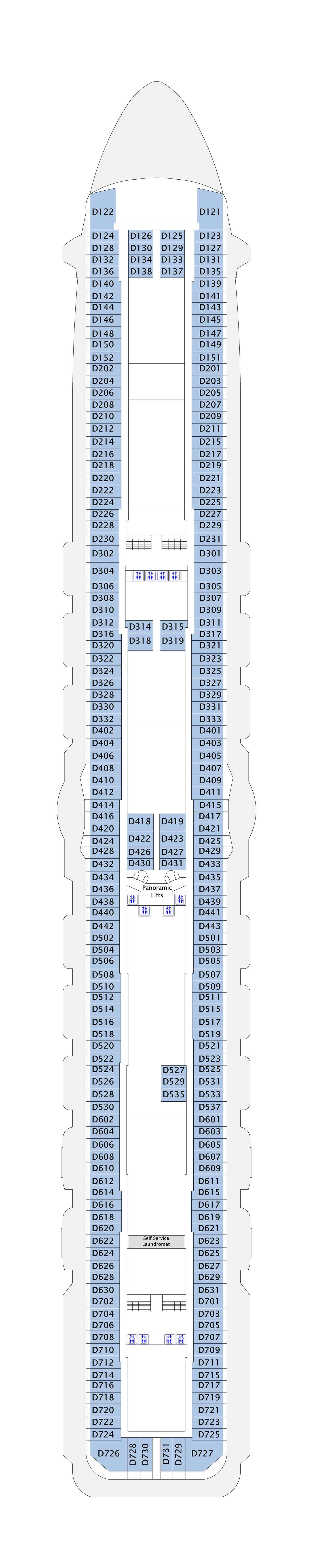 Royal Princess deck plan 9