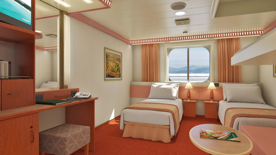 Carnival Valor Interior With Picture Window  Walkway View