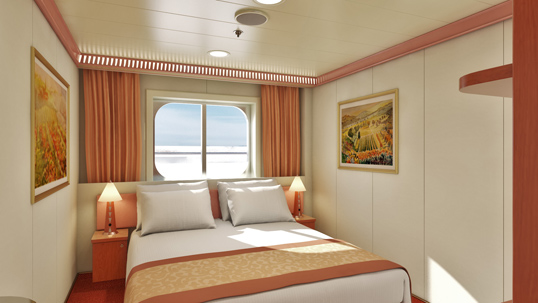 Carnival Liberty Interior With Picture Window Walkway