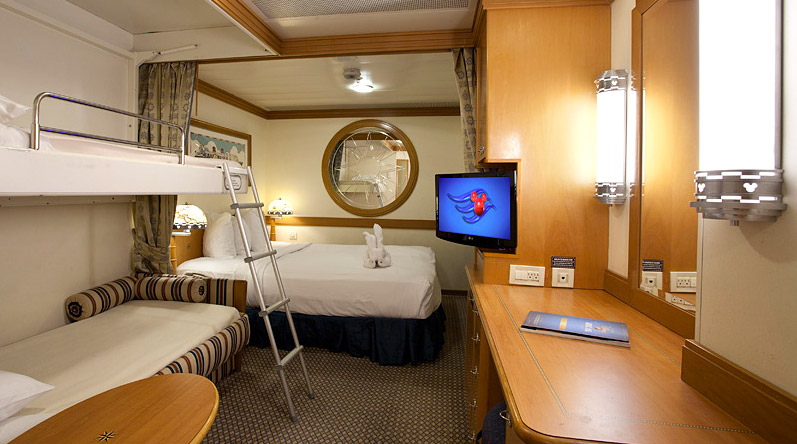 Disney Wonder Deluxe Inside Stateroom Room