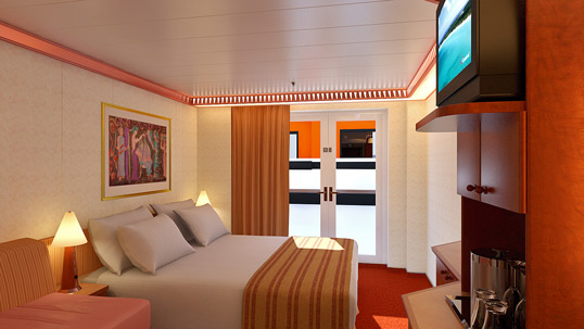 Carnival Legend Interior With French Door Obstructed