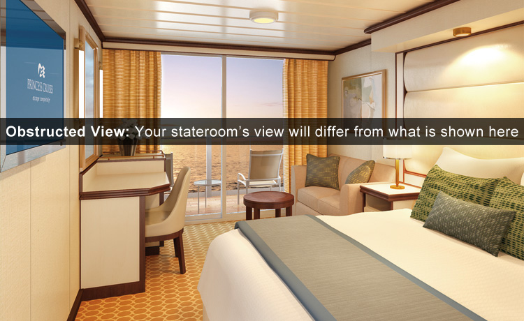 Regal Princess Deluxe Balcony Obstructed Room Cruisebe