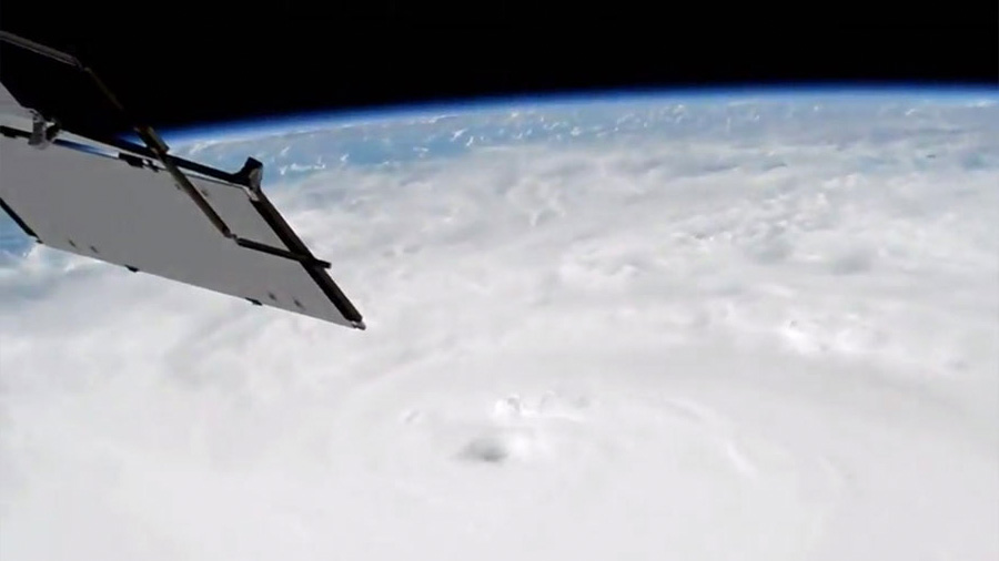Hurricane Matthew from the space