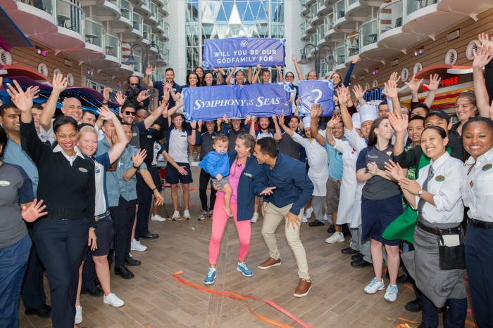 Symphony of the Seas christening