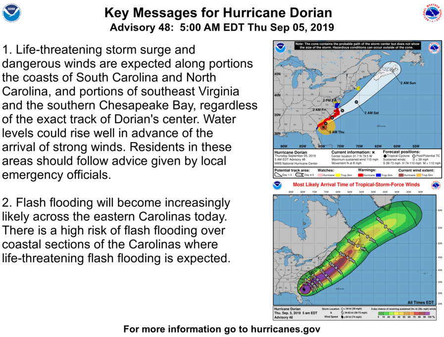 Hurricane Dorian Cruise Itinerary Changes