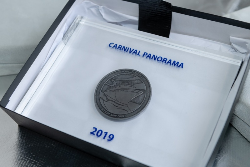 Carnival Panorama Coin Ceremony
