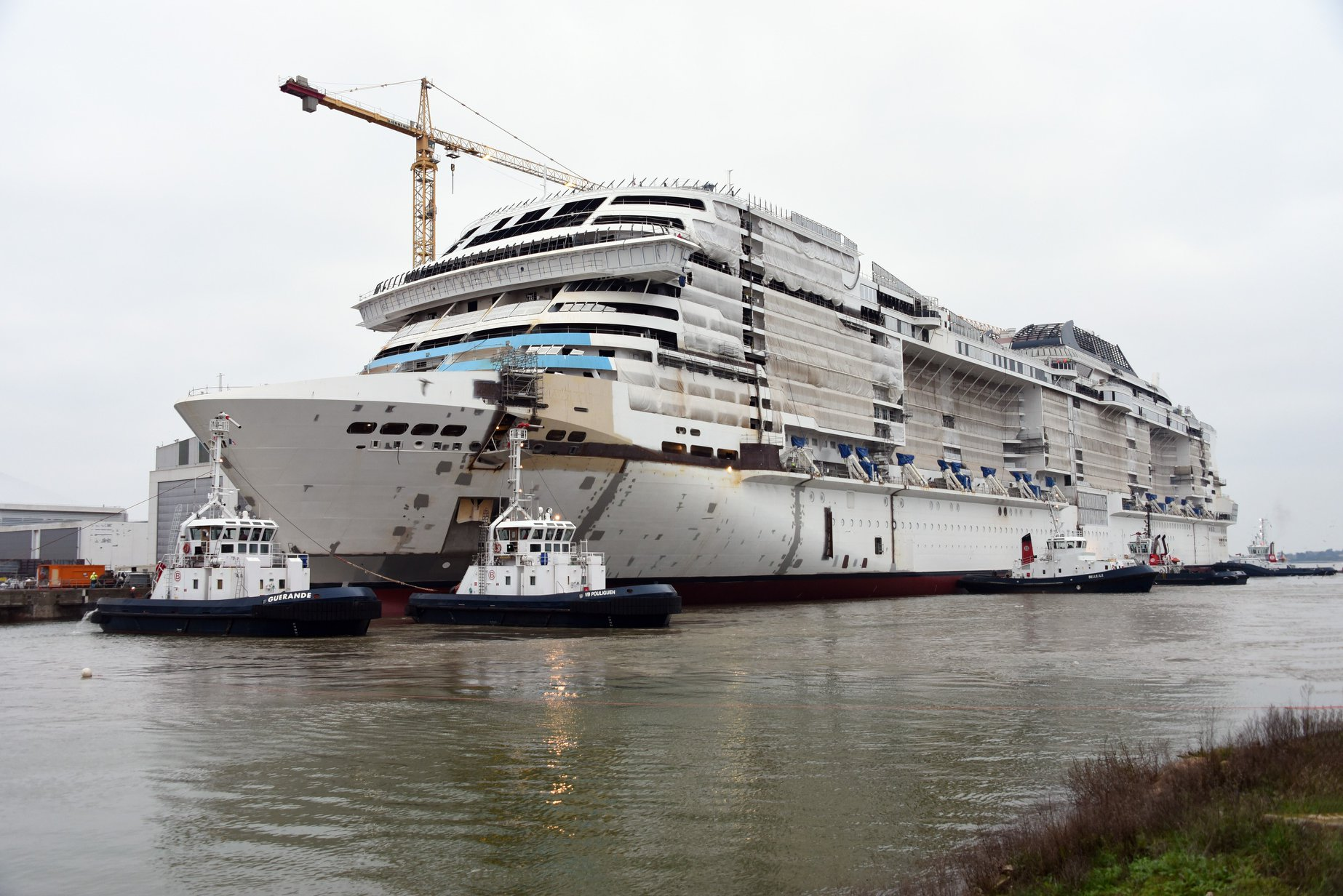 MSC Grandiosa Touches Water for the First Time | CruiseBe