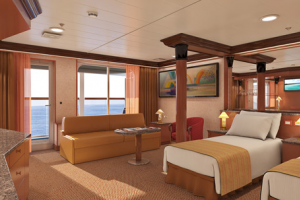 Carnival Elation Grand Suite Room CruiseBe - Elation cruise ship rooms