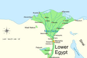 By Ancient_Egypt_map-en.svg: Jeff Dahlderivative work: MinisterForBadTimes (talk) - Ancient_Egypt_map-en.svg, CC BY-SA 3.0, https://commons.wikimedia.org/w/index.php?curid=7160429