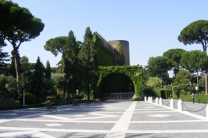 //commons.wikimedia.org/wiki/File:Vatican_Gardens_-_view_towards_the_Lourdes_cave_replica.jpg ||| Creative Commons Attribution-Share Alike